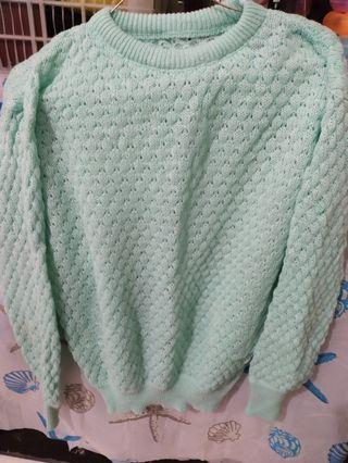 Sweater Rajut warna Mint