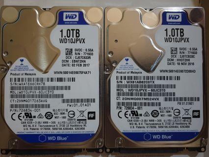 "Western Digital WD 1TB Hard Disk Drive SATA 2.5"" HDD"