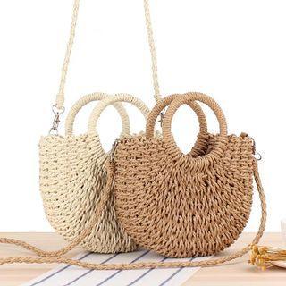Woven Straw Sling Bag