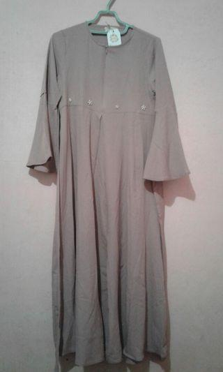 Dress Ruffle Sleeve Ungu by Wearing Klamby