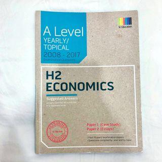 🚚 H2 Economics A Level Examination Questions 2008-2017 [JC]