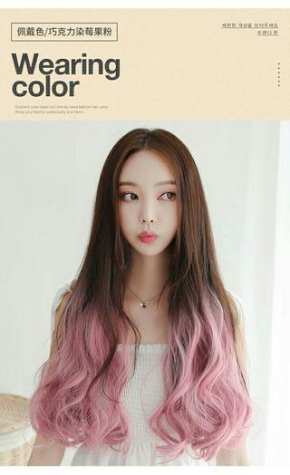 ➡(NO INSTOCKS!)Preorder korean wavy s curl clip on v shape hair extension*waiting time 15 days after payment is made*chat to buy to order