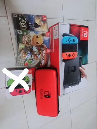 Used Nintendo switch + 3 games