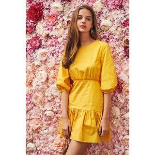 🚚 (BN) The Closet Lover Herly Paper Dress | Mustard