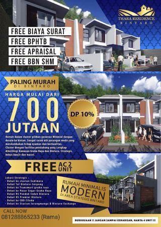 Dijual Rumah 2 lantai minimalis harga paling ekonomis area Bintaro