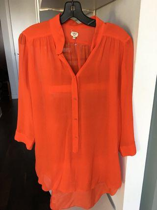 Aritzia Wilfred silk blouse shirt tunic top