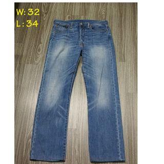 Levis 501 Button Fly Jeans W32