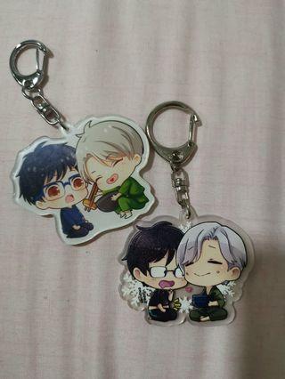 🚚 Yuri on ice keychains