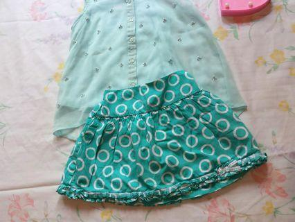 The children's place &Faded Glory skirt 4t