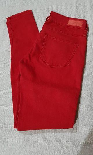 Mango red skinny jeans paty super slim fit