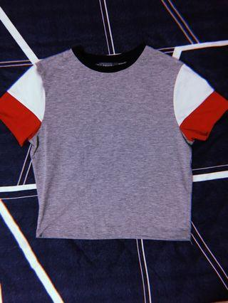 Primark Grey Raglan Crop Top