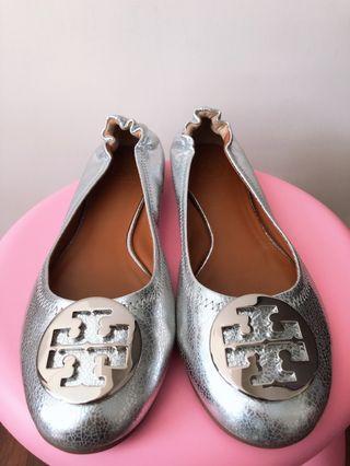 Tory Burch Flats (Silver)
