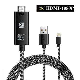 704) Compatible with iPad iPhone to HDMI Adapter Cable, Digital AV Cord Connector