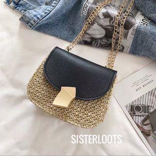 Gerisa Minimalist Straw Textured Bag