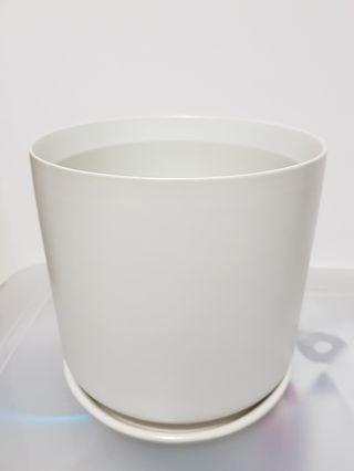 Ceremic Plant Pot with hole and base / drip plate