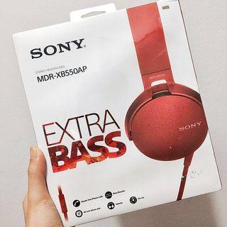 Sony Stereo Headphones Red MDR-XB550AP
