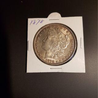 US Morgan Silver Dollar Coin 1878