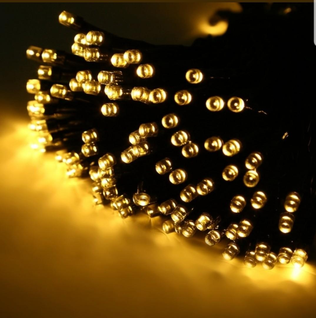 22M 200LED Warm White Solar Powered Outdoor Fairy Lights