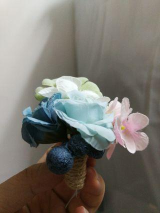 胸花 粉藍一個 婚後物資