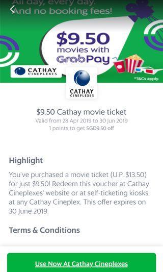 Cathay $9.50 ticket - any day
