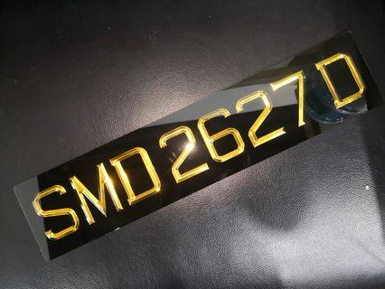 3d car number plate