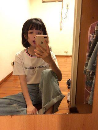 時尚紅白t恤