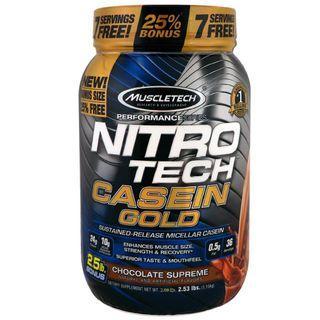 Muscletech, Performance Series, Nitro Tech Casein Gold 膠束酪蛋白 1.15kg