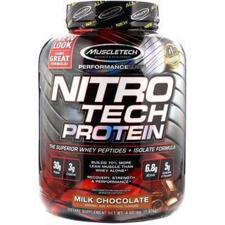 Muscletech, NitroTech, Whey Peptides & Isolate Primary Source 增肌奶粉/蛋白粉 1.81kg