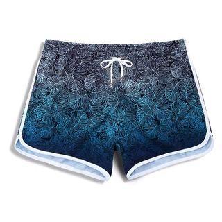 Free size short pants 女裝沙灘短褲漸變色藍色