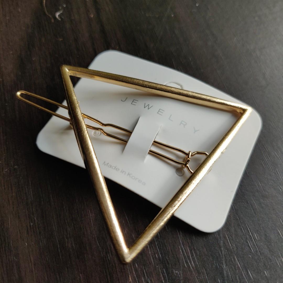 三角別緻髮夾