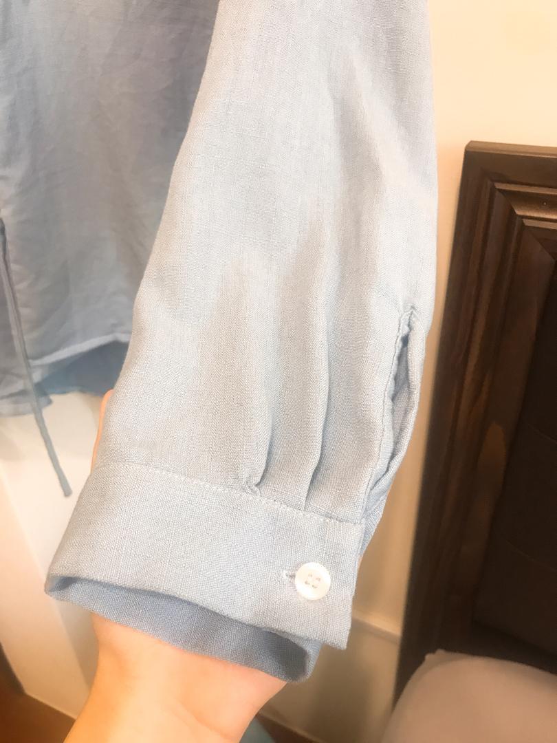 近全新 超美水藍色 可當上衣外套兩穿式