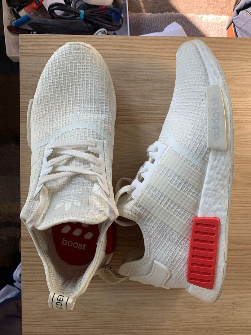 Adidas Originals NMD Off-white Lush Red (UK9, US9.5, 43.5EU)