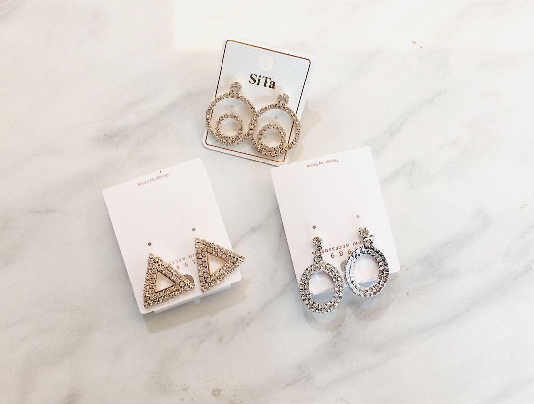 Anting mutiara (Diamond Earrings)
