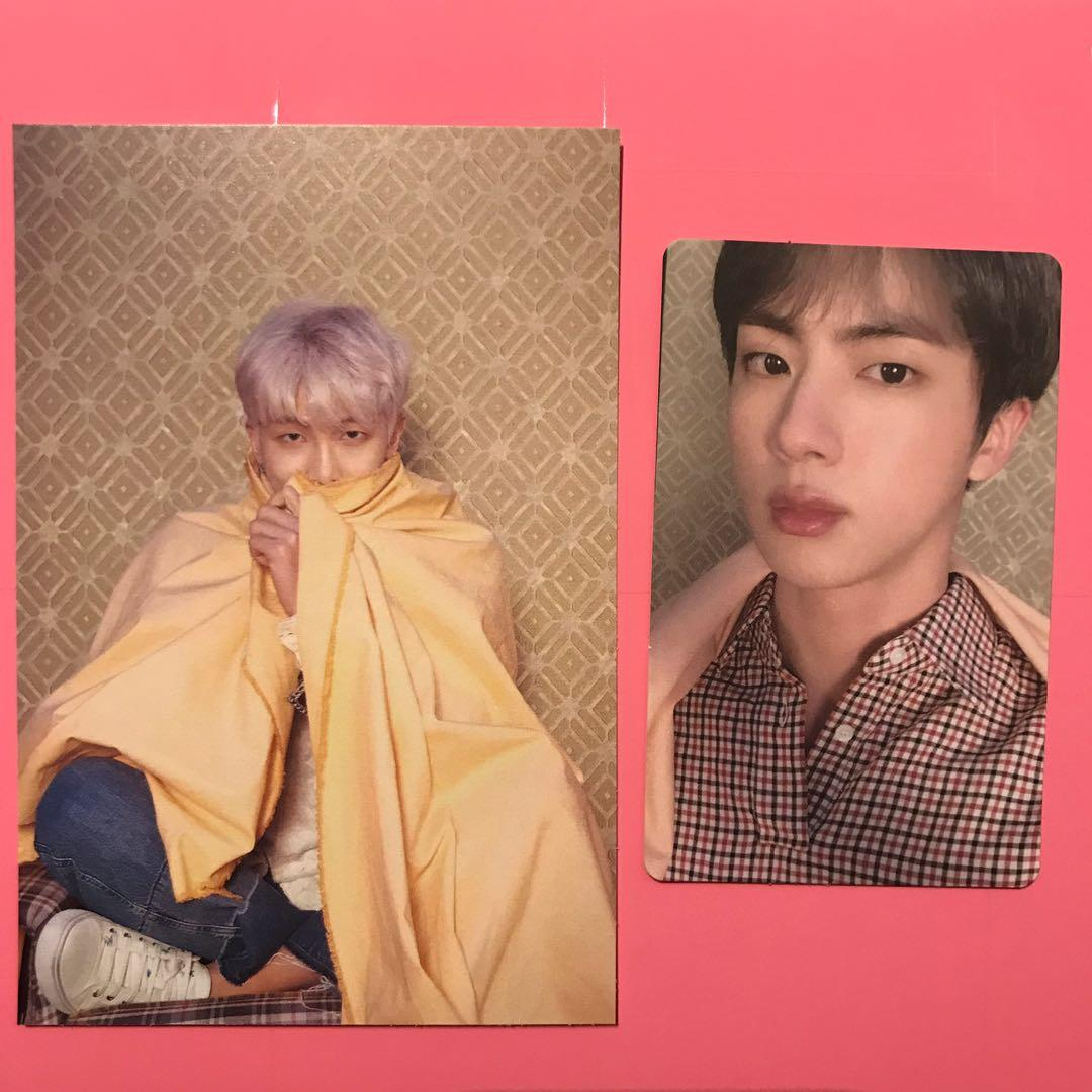 BTS Namjoon Postcard and Seokjin photocard