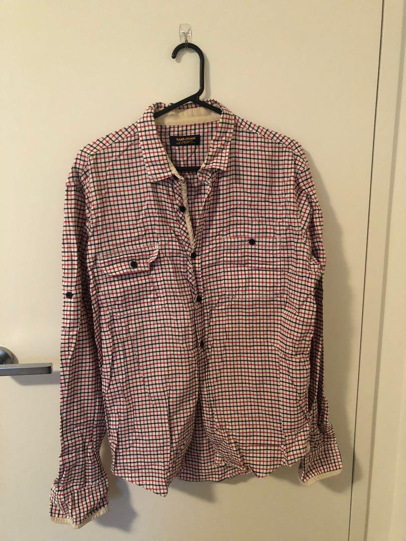 Chaps Men's Shirt NWT Size L RRP $55 + Bonus Shirt (used)