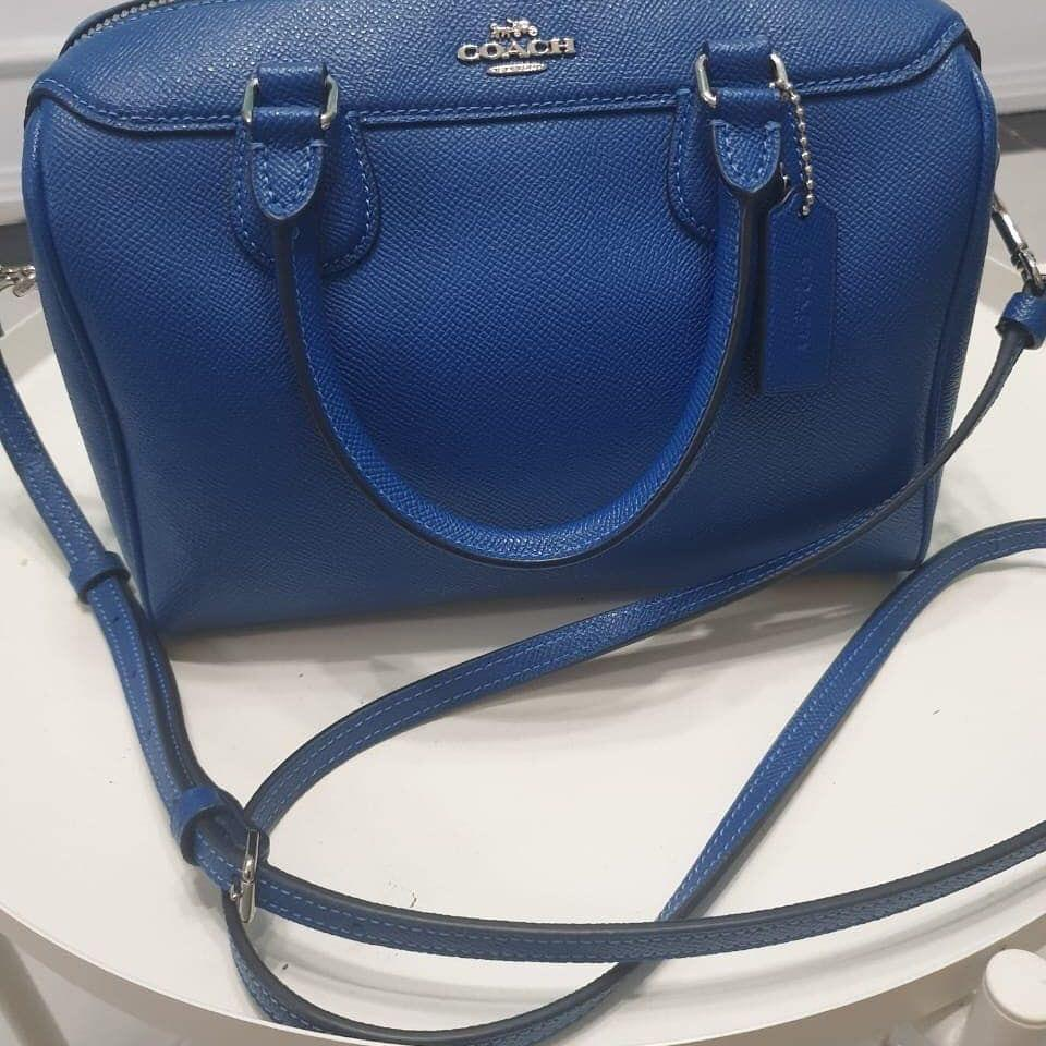 Coach Mini Bennet sachel blue Authentic with no seri mulus & Like new