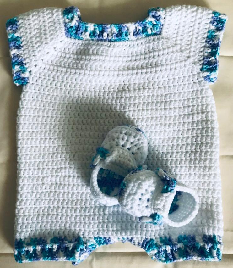Crochet Baby Romper Babies Kids Babies Apparel On Carousell