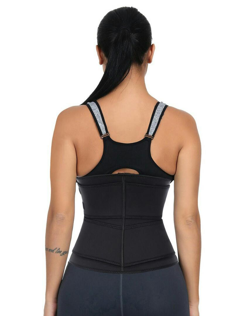 Double belt waist trainer