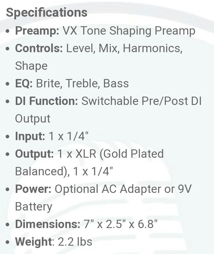 Hartke Bass Attack | VXL Bass Preamp