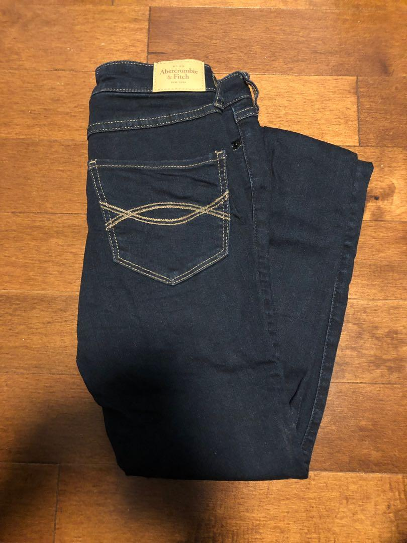 High Rise Skinny Jeans Dark Wash Abercrombie & Fitch Size 00