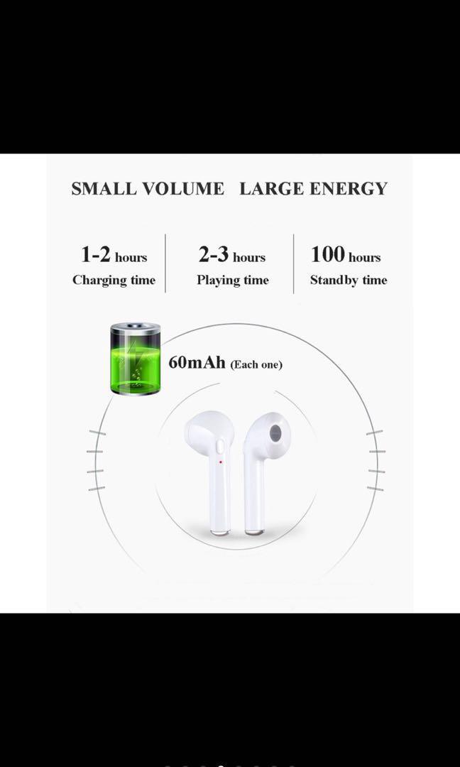 I7S Wireless Bluetooth Sports Earphone Stereo