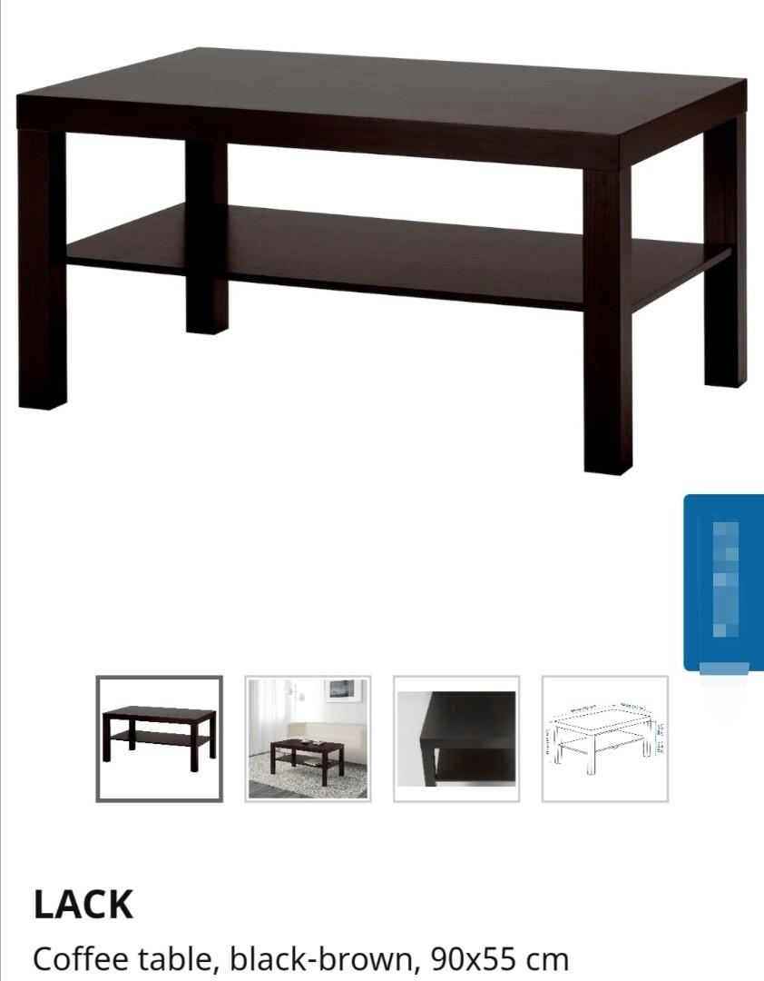 Ikea Black Brown Coffee Table Furniture Tables Chairs On Carousell