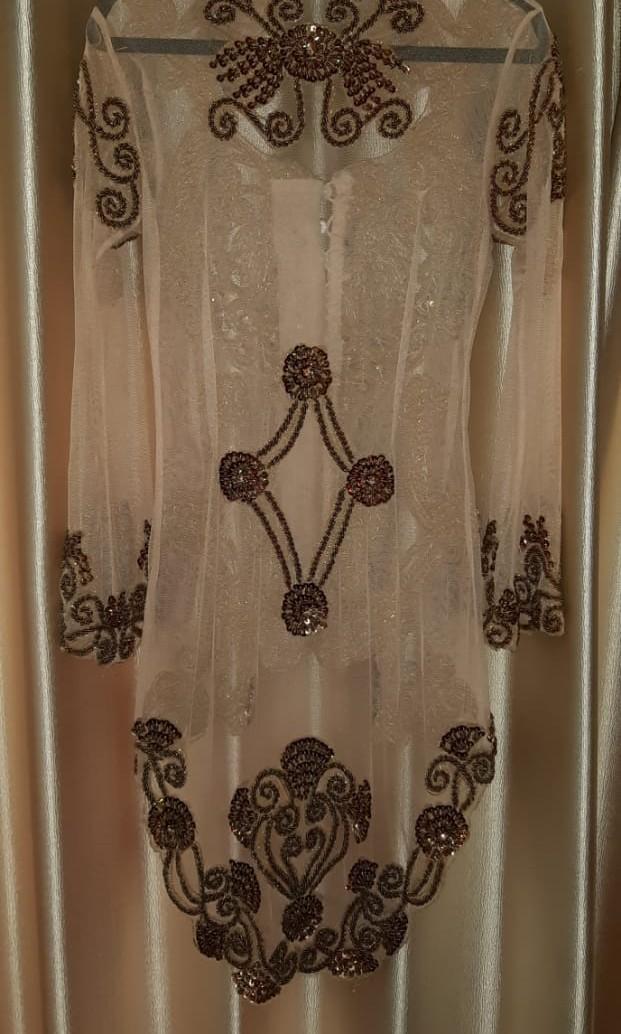Kebaya Payet Luxury Modern - Gold Brown (Wisuda, Tunangan, Pernikahan)