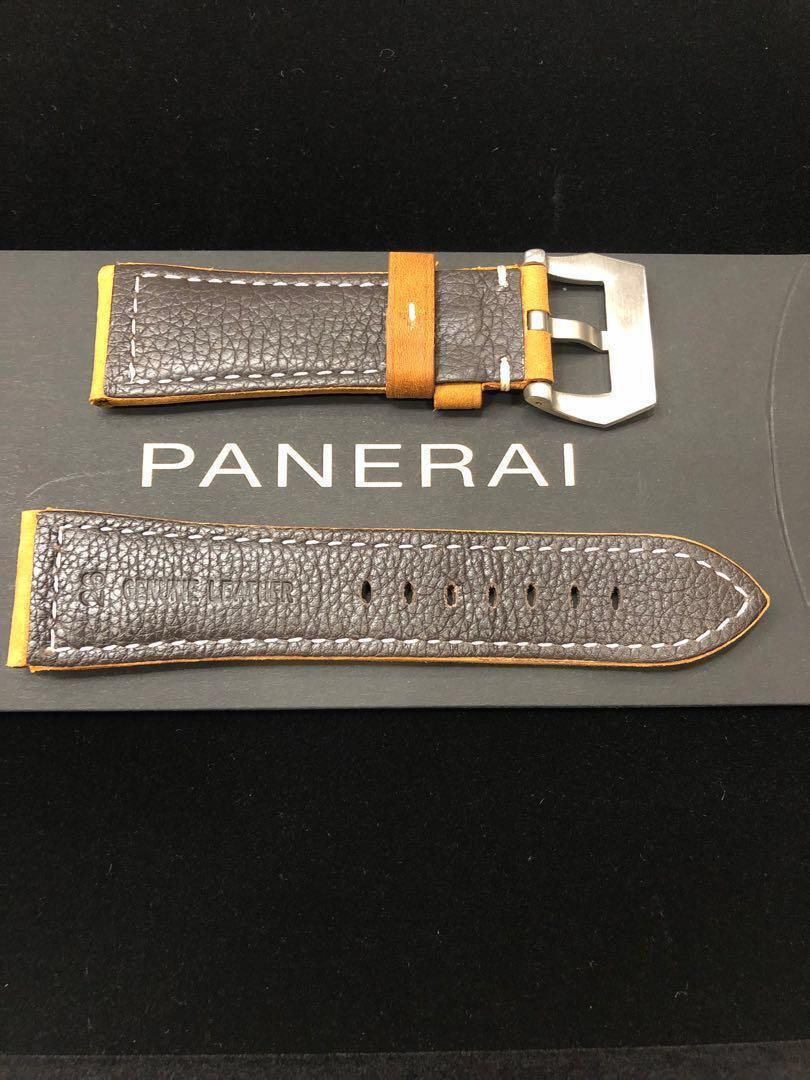 Panerai Leather Strap(Lug size:26/22.0 mm) Light Oak Brown