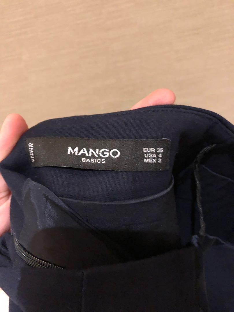 Mango Navy Blue Skirt