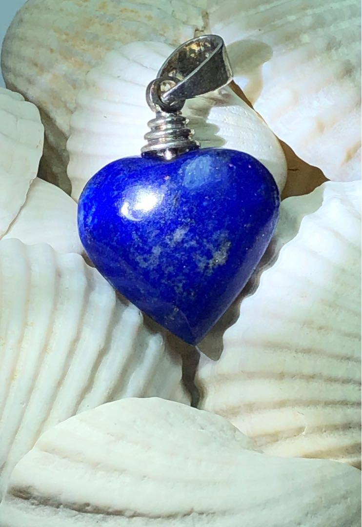 Natural Lapis Lazuli Pendant (Heart)
