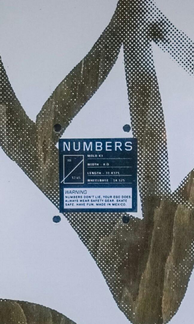 Numbers Edition 5 Rodrigo TX 8.0 Skateboard