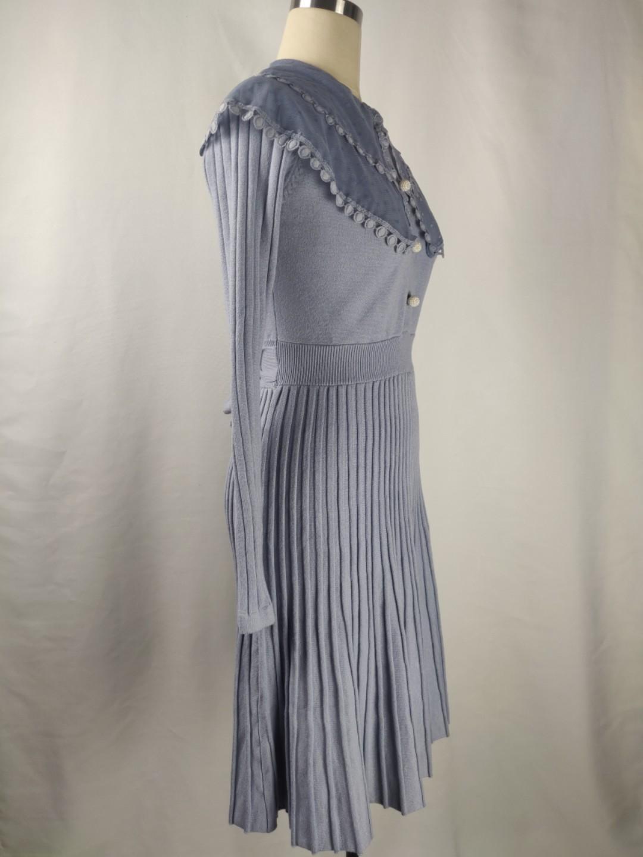 NWOT Ladies pale blue stretchy knit dress size 4-6