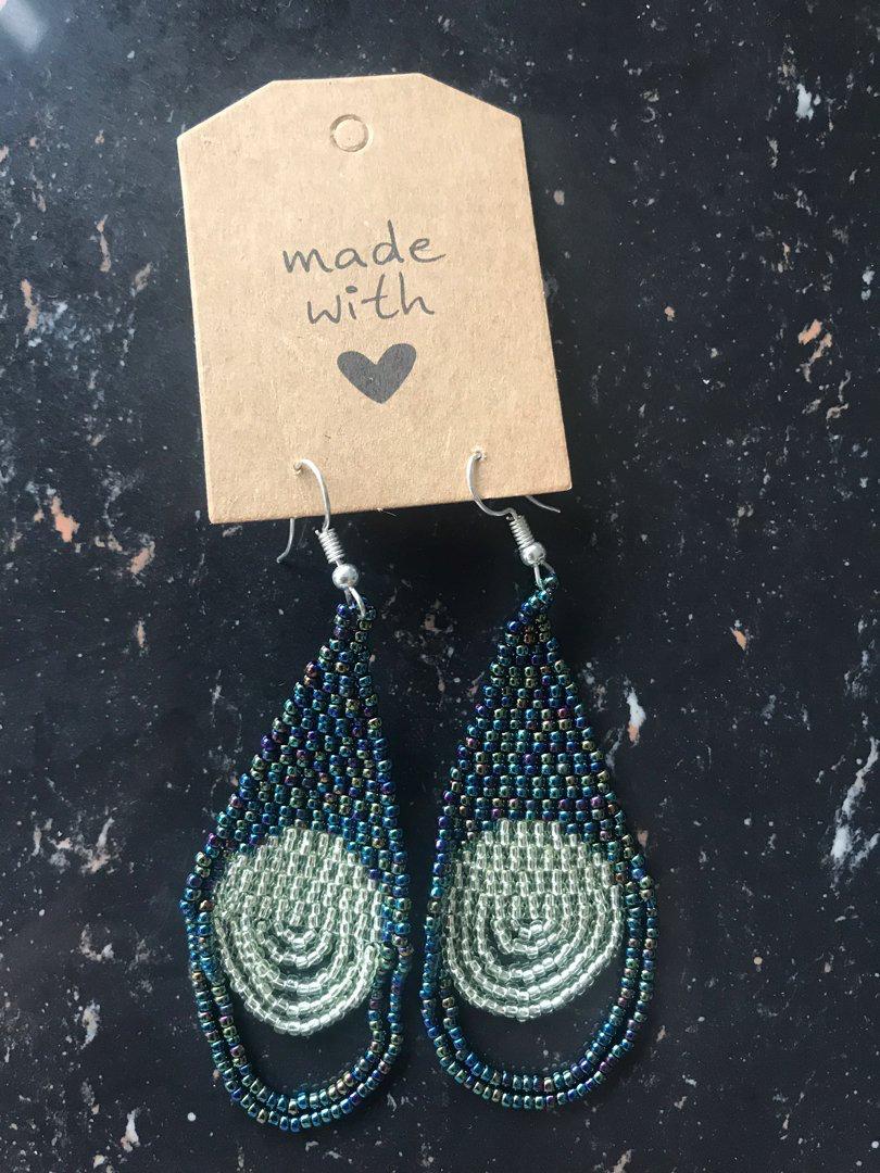 Ocean Handmade Beads Earring