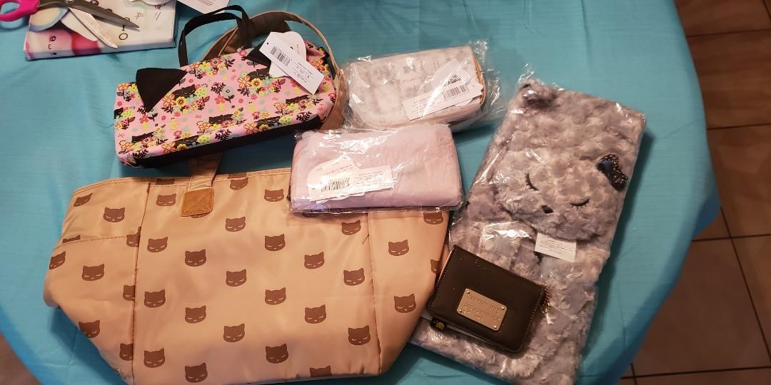 Osumashi Pooh-chan Lot - 6 pcs cat accessories bags purses
